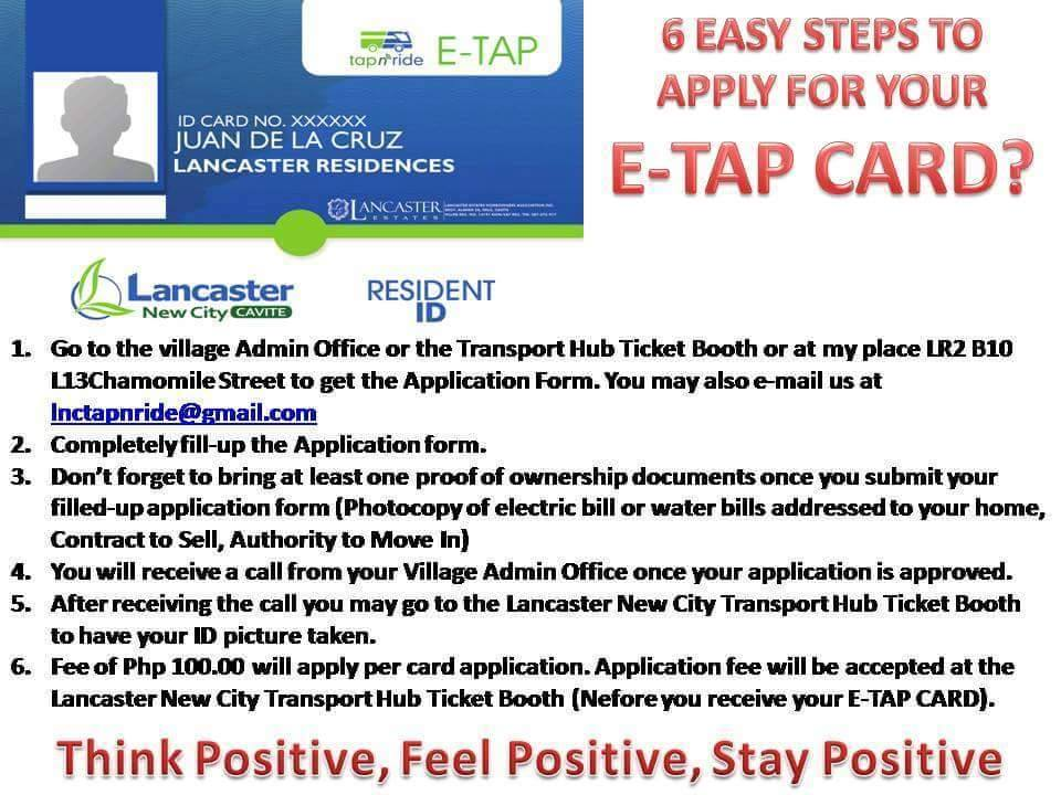 e tap application